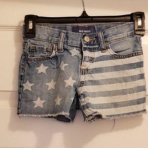 Old Navy Stars and Stripes Denim Cutoff Shorts
